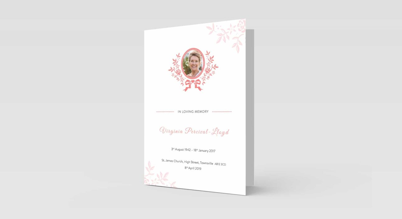 Pink Ribbon with Oval Photo