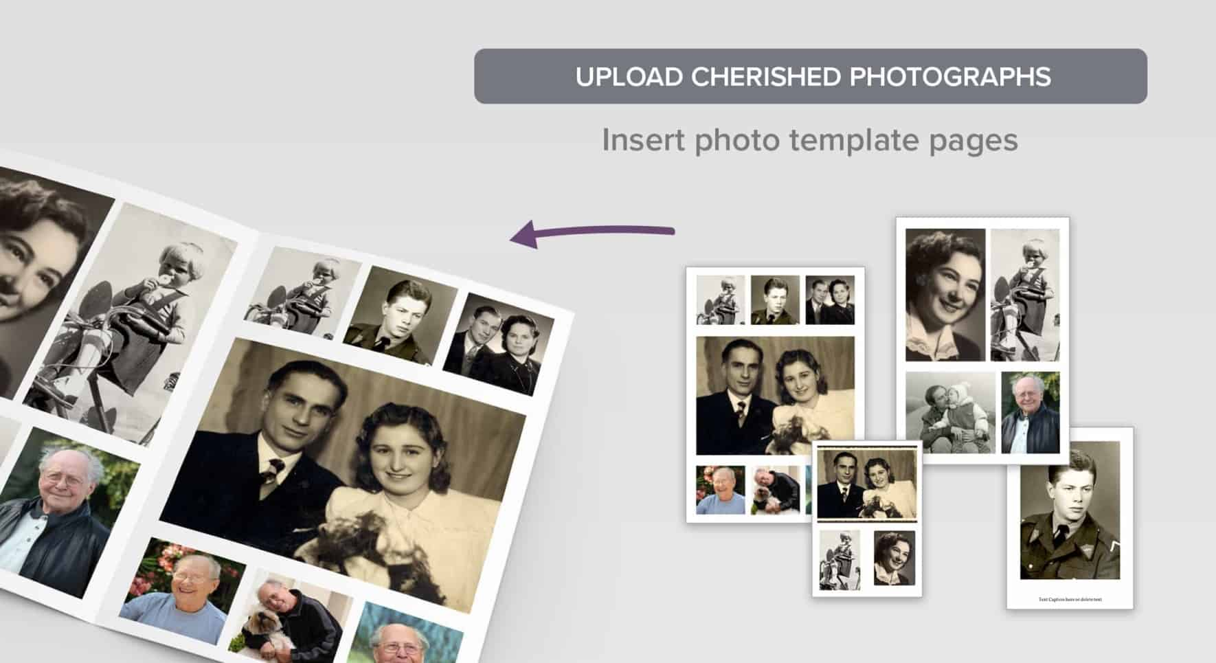 A selection of photo pages