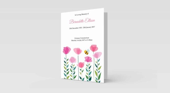 Pink Flowers & Bee