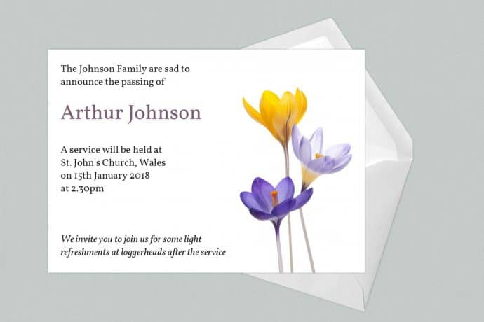 Funeral Announcement Cards-Design 4