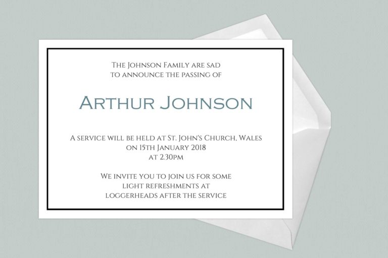 Funeral Announcement Cards-Design 6