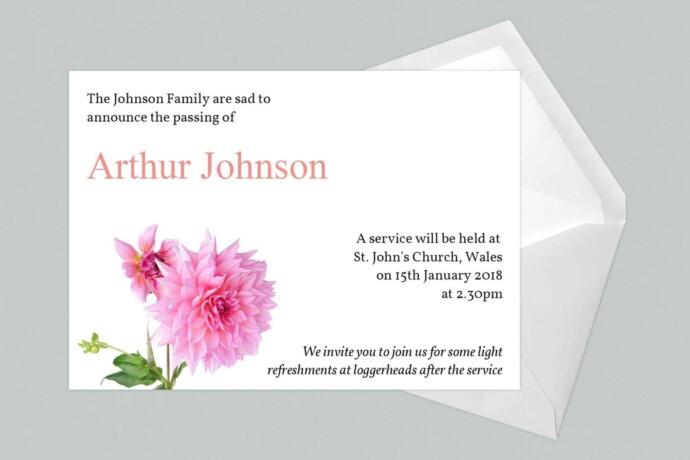 announecemend-card-Dahlia Flower