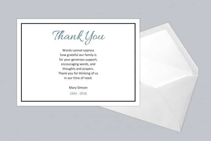 Thank You Card Style One