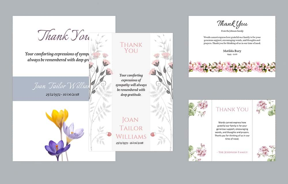 Funeral Thank You Cards Templates (1)