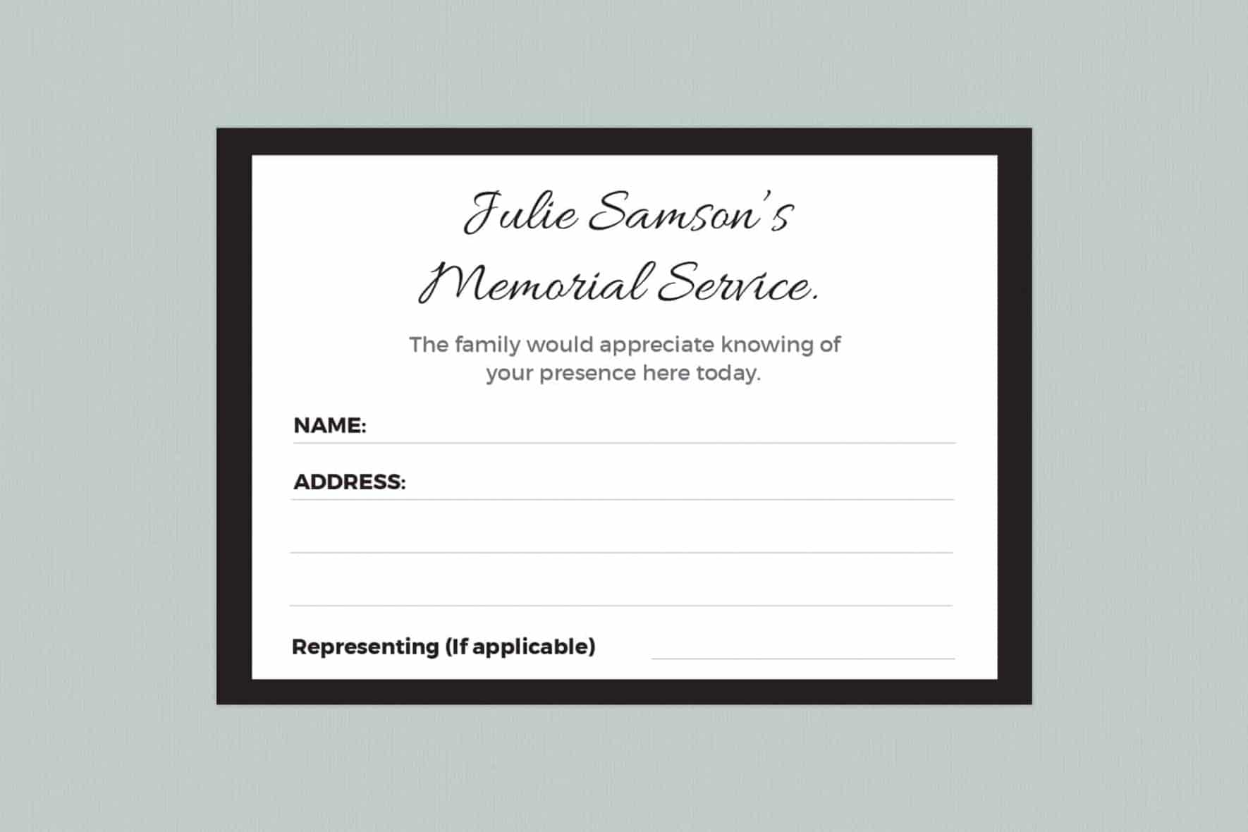 attendance card template style 10