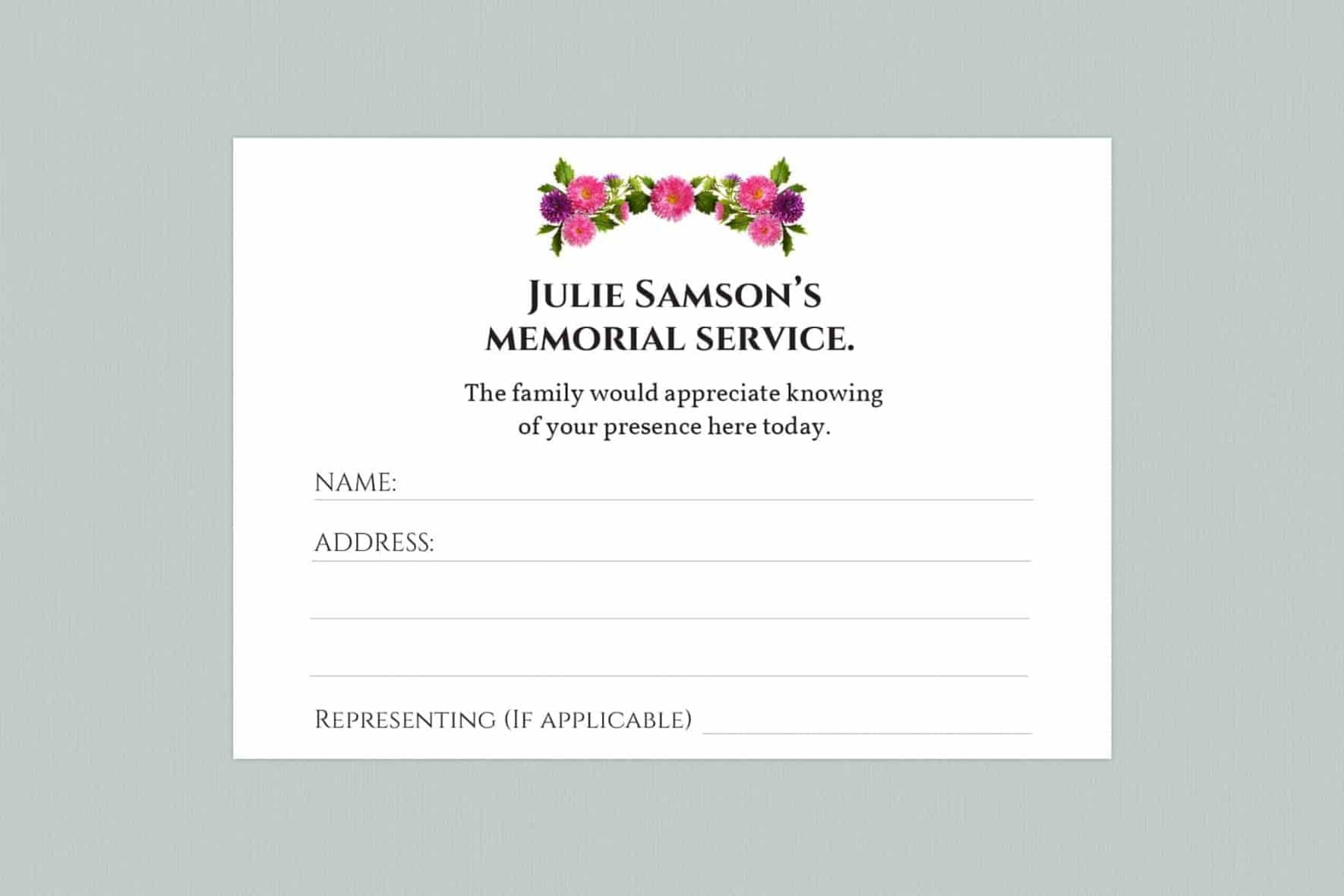 attendance card template style 4