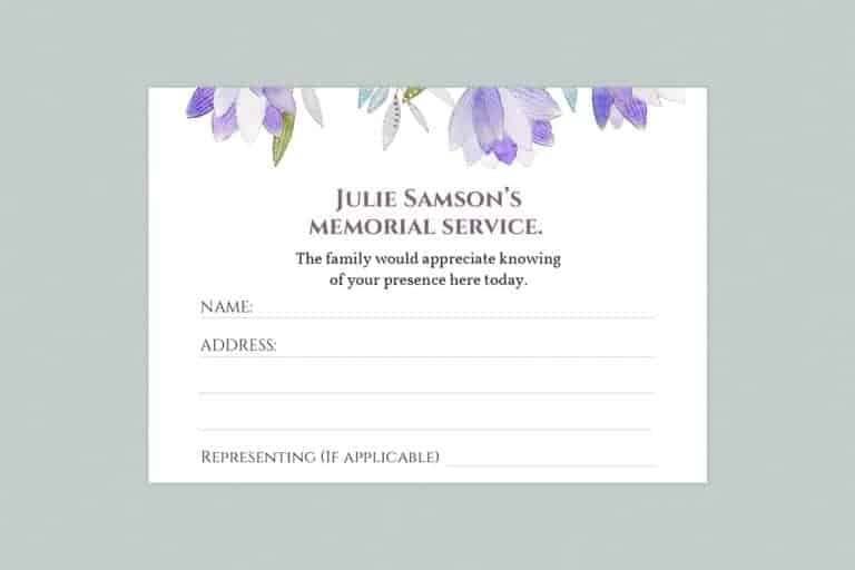 attendance card template style 6