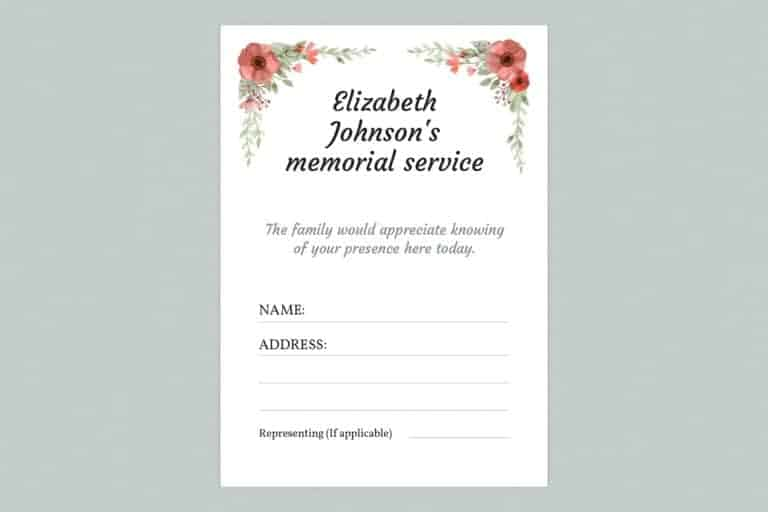 attendance card template style 8