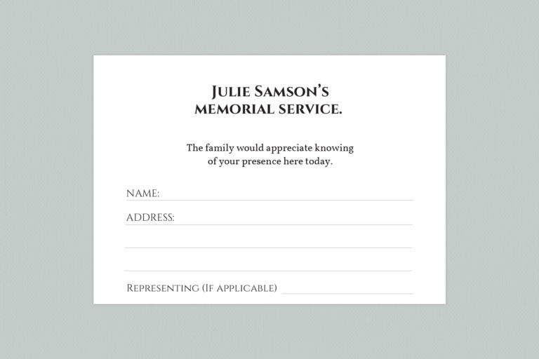 attendance card template style 9