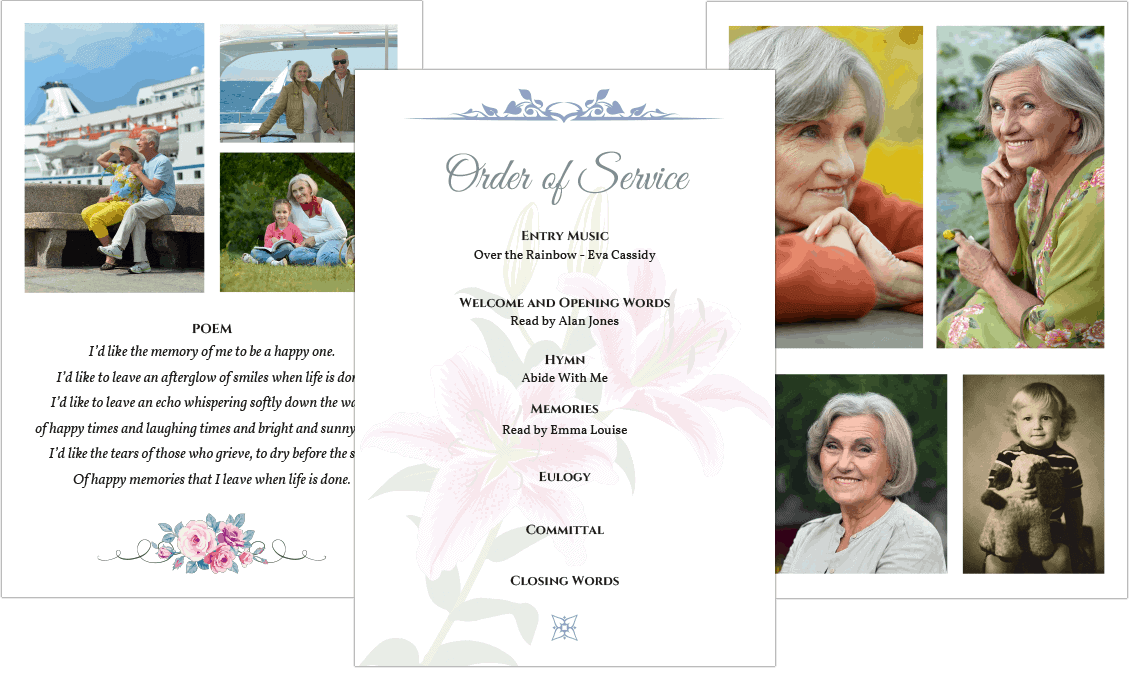 funeral order of service templates