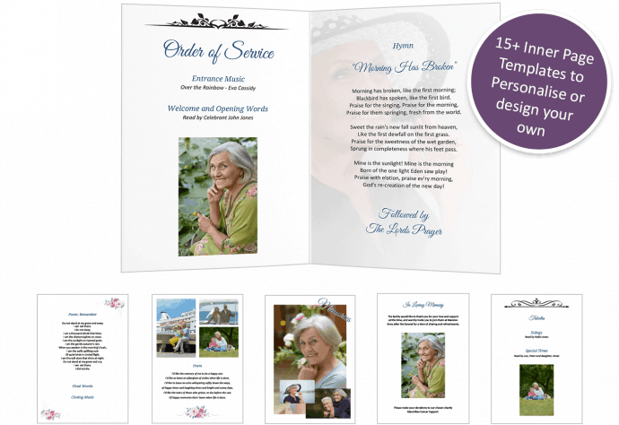 funeral order of service page templates