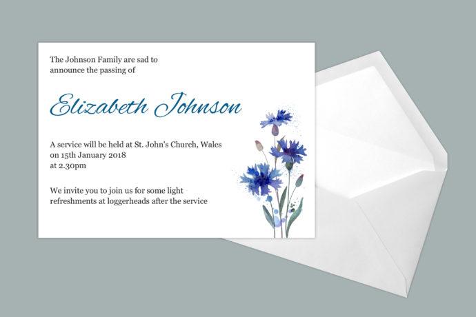 Hand Drawn Blue Floral