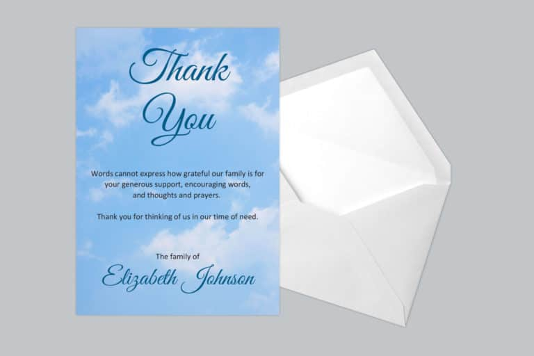 Funeral Thank You Card Style 11