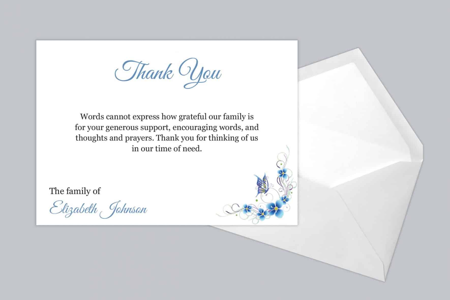 Funeral Thank You Card Style 13