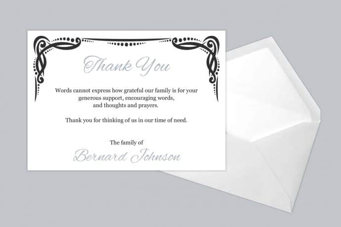 Funeral Thank You Card Style 14
