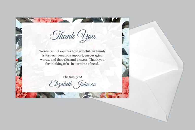 Funeral Thank You Card Style 15