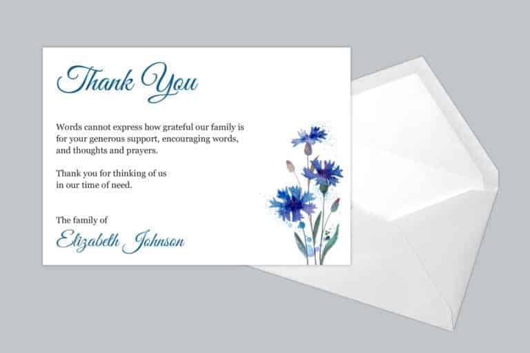Funeral Thank You Card Style 16