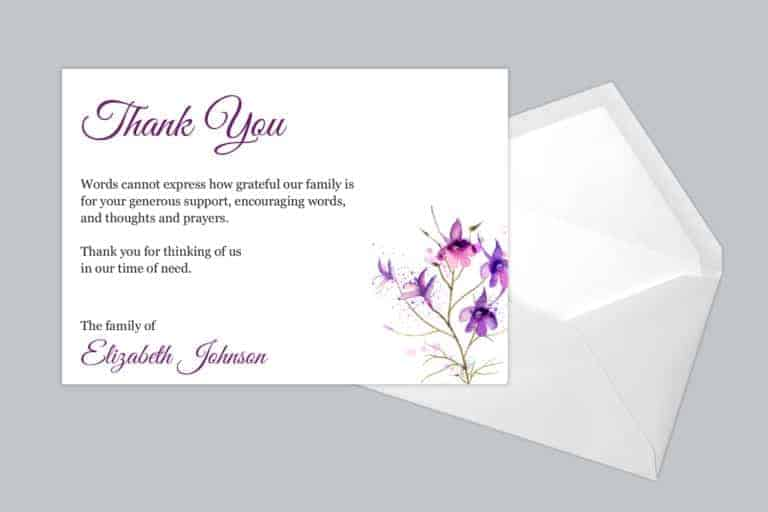 Funeral Thank You Card Style 17