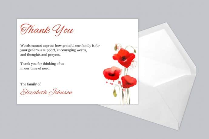 Funeral Thank You Card Style 18