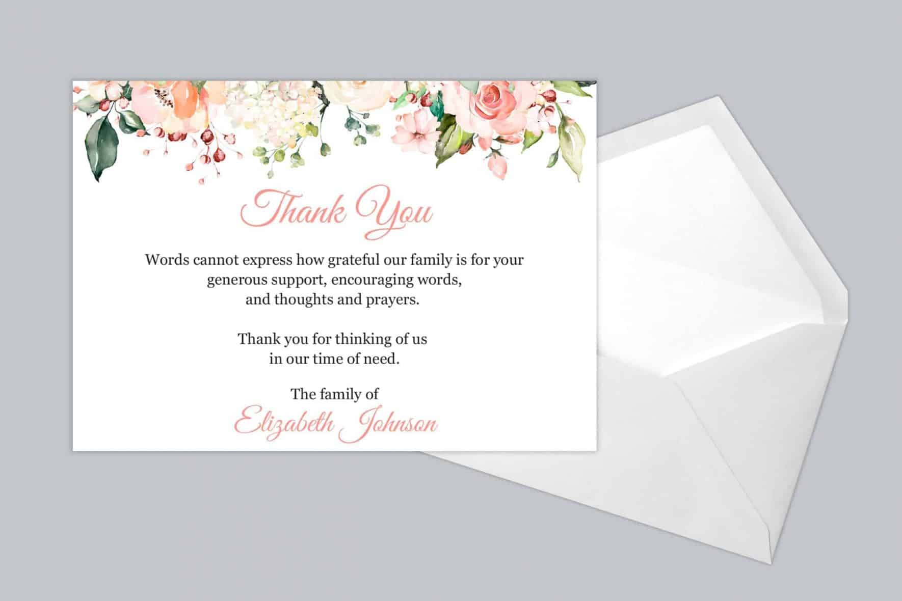 Funeral Thank You Card Style 19