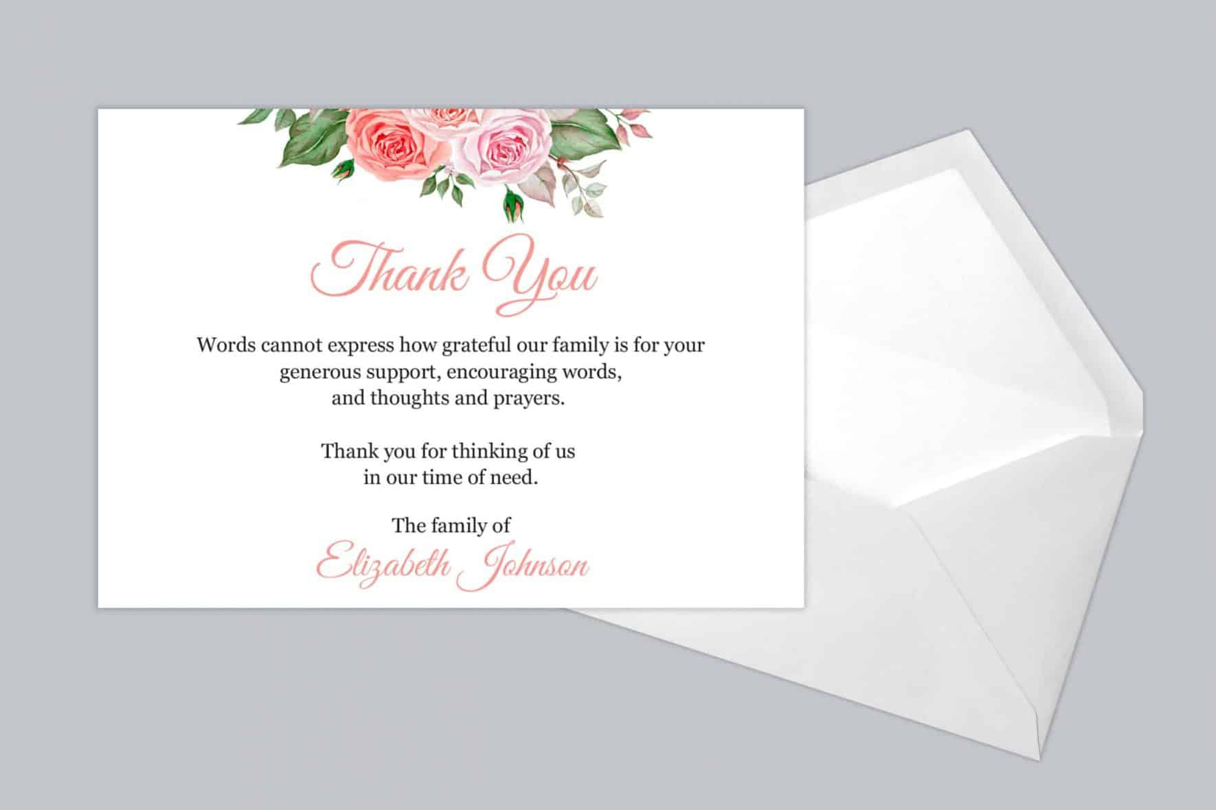 Funeral Thank You Card Style 20