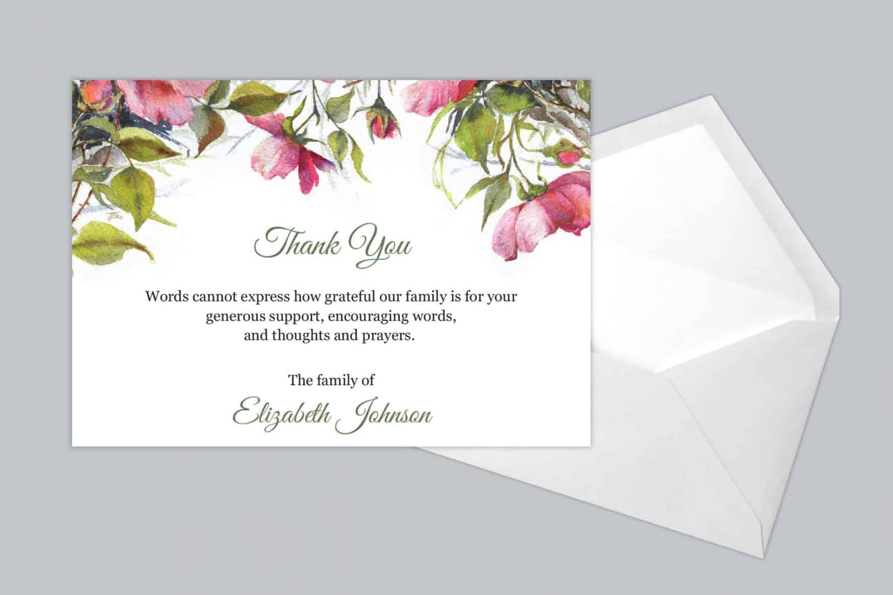 Funeral Thank You Card Style 21