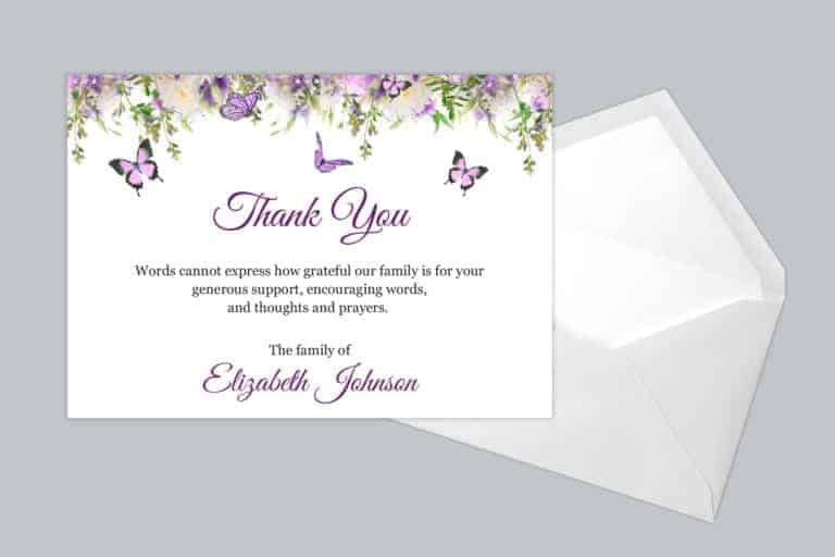 Funeral Thank You Card Style 22