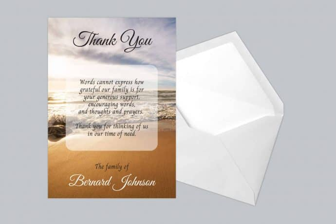 Funeral Thank You Card Style 23