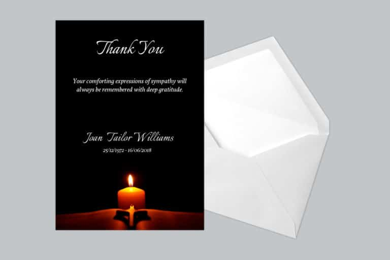 Funeral Thank You Card Style 24
